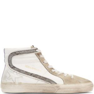 Golden Goose White Slide High-Top Sneakers